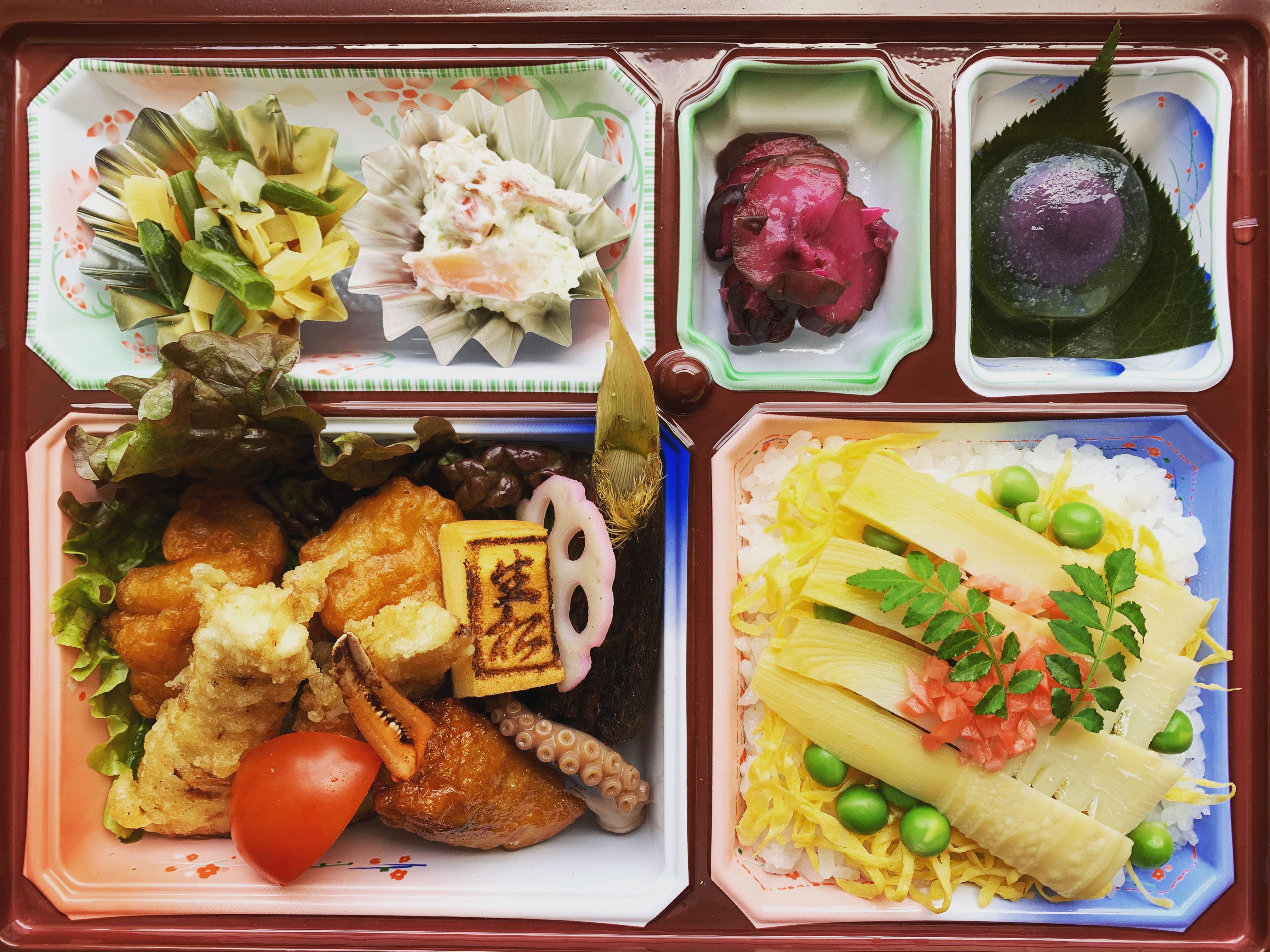 姫路市・本町「しらさぎ風雅 生松」太市筍づくし弁当 【飲食店応援企画】